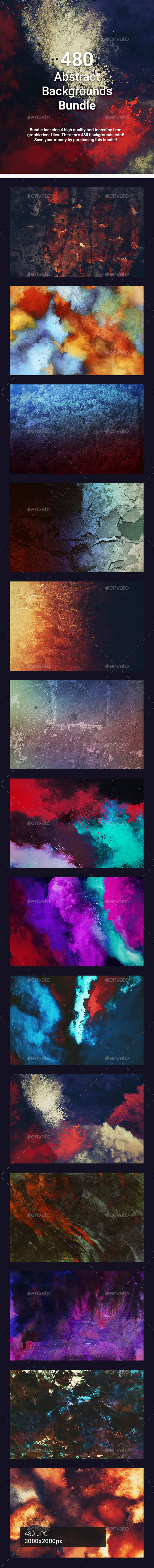 480 Abstract Backgrounds Bundle - Abstract Backgrounds