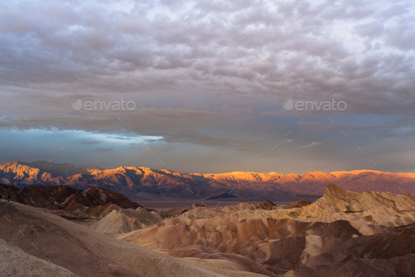 Rugged Badlands Amargosa Mountain Range Death Valley Zabriske Point - Stock Photo - Images