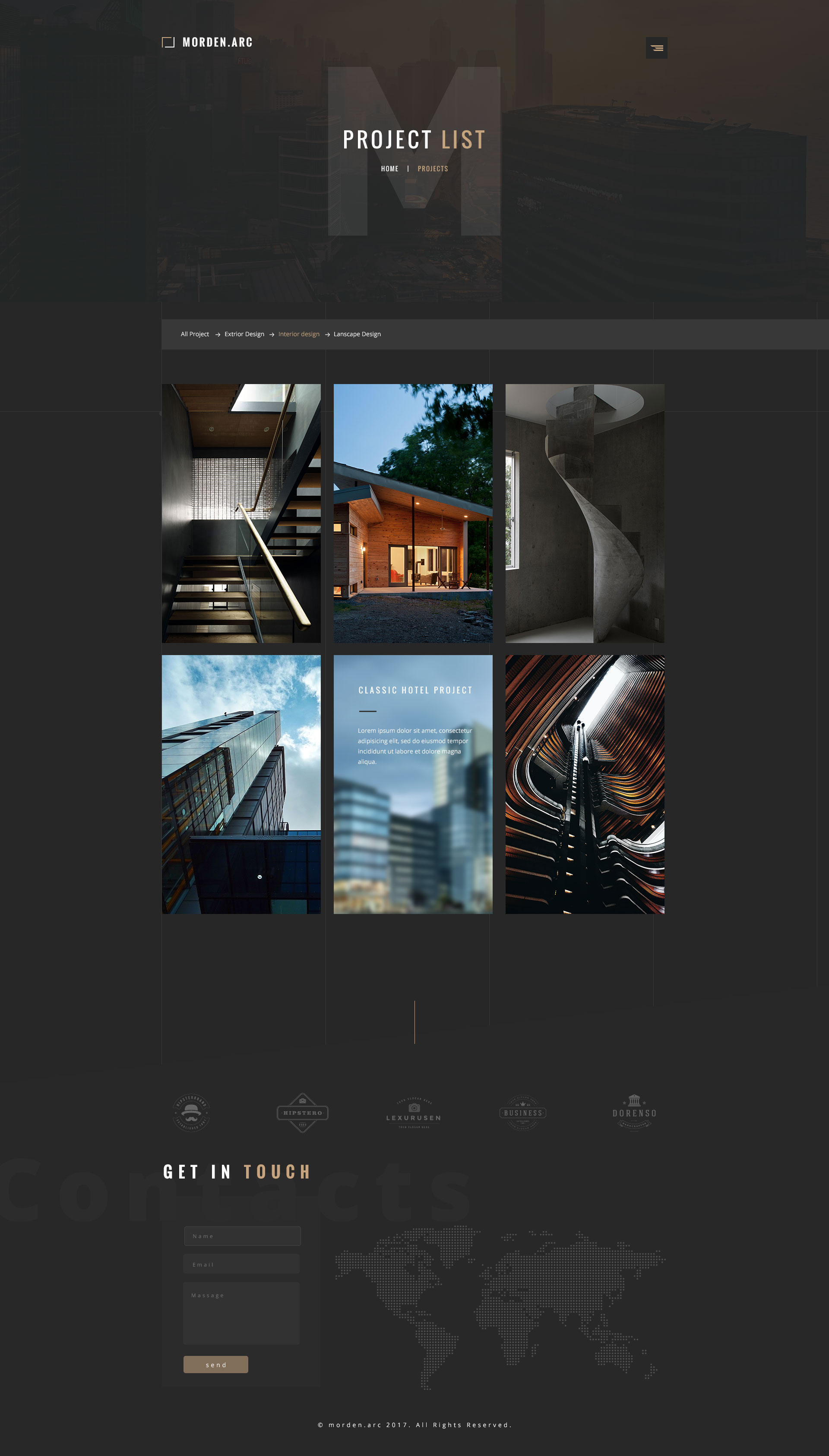 morden.arc - Architecture and Interior PSD Template by wpthemeshaper