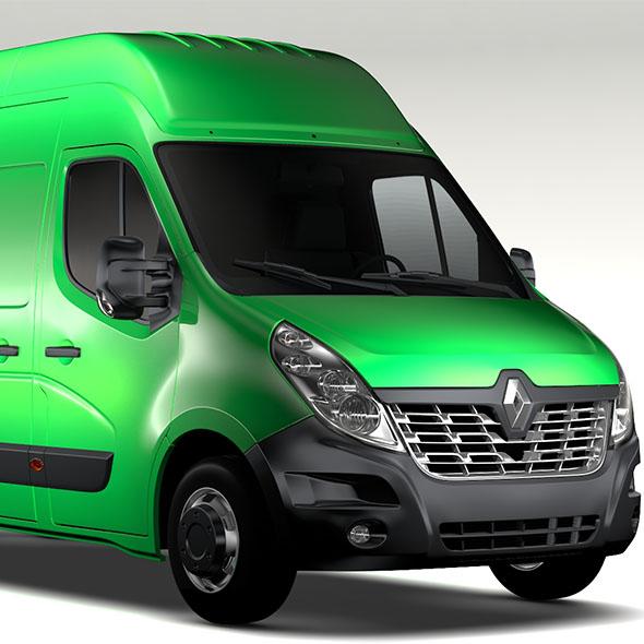 Renault Master L3H3 Van 2017 - 3DOcean Item for Sale