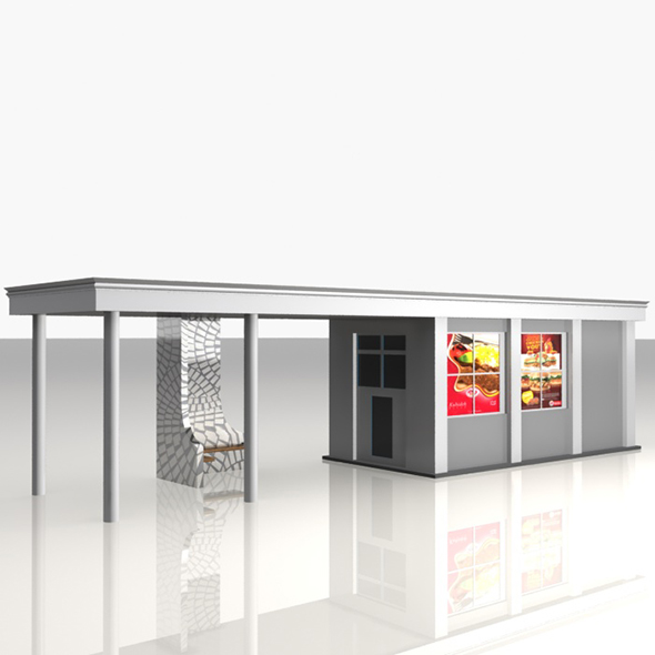 3DOcean Bus Stop Shelter Food Shop 20445316