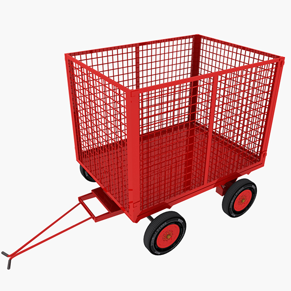 Cage Trailer 01 - 3DOcean Item for Sale