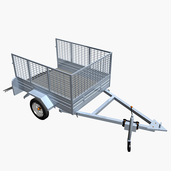 Cage Trailer 02 - 3DOcean Item for Sale