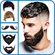 Man Mustache end Hair Style Editor