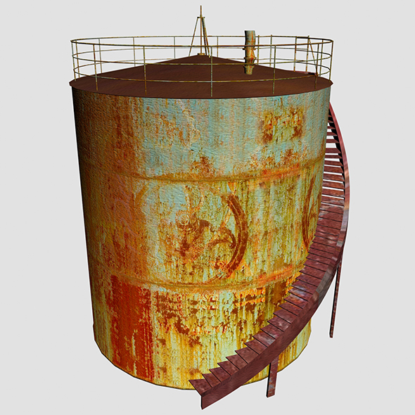 Oil Tanker 02 - 3DOcean Item for Sale