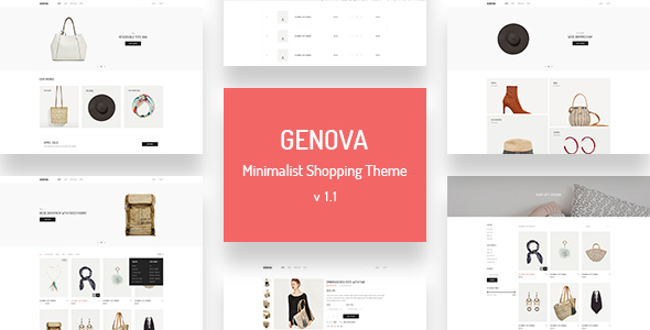 Genova - Minimalist AJAX WooCommerce WordPress Theme - WooCommerce eCommerce
