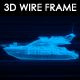 Yacht 3D Wireframe
