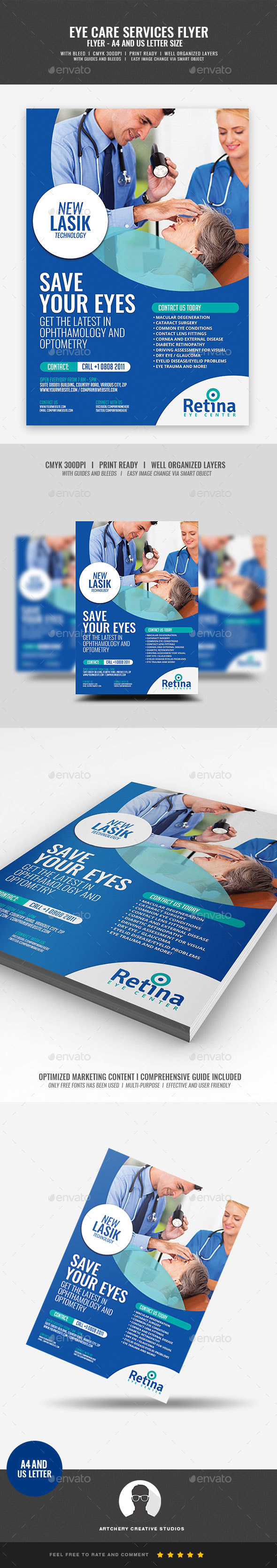 Optometry Services Flyer - Corporate Flyers