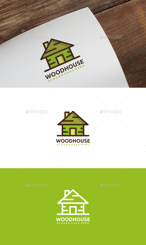Wood House Logo - Buildings Logo Templates