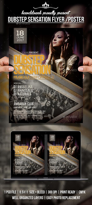 Dubstep Sensation Flyer / Poster - Clubs & Parties Events