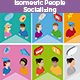 Isometric People Socializing - GraphicRiver Item for Sale