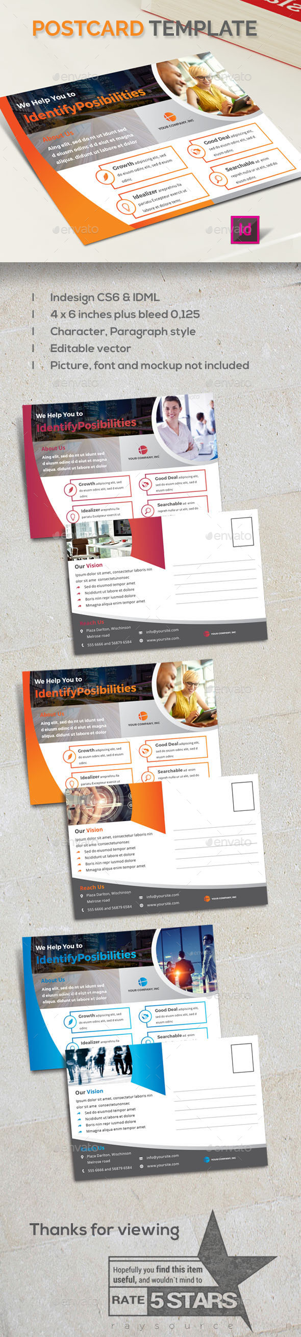 Business Post Card Template - Cards & Invites Print Templates