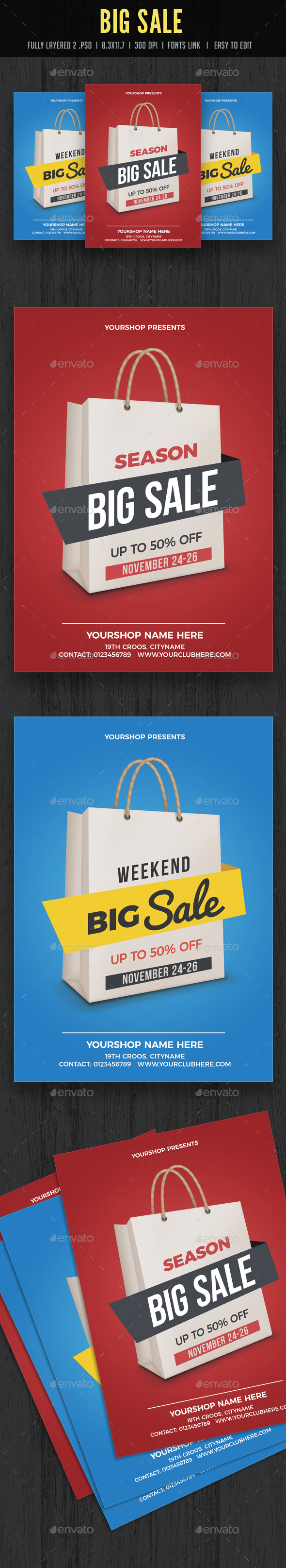 Sale Poster Flyer - Flyers Print Templates