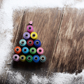 Sewing spools Christmas backround - PhotoDune Item for Sale