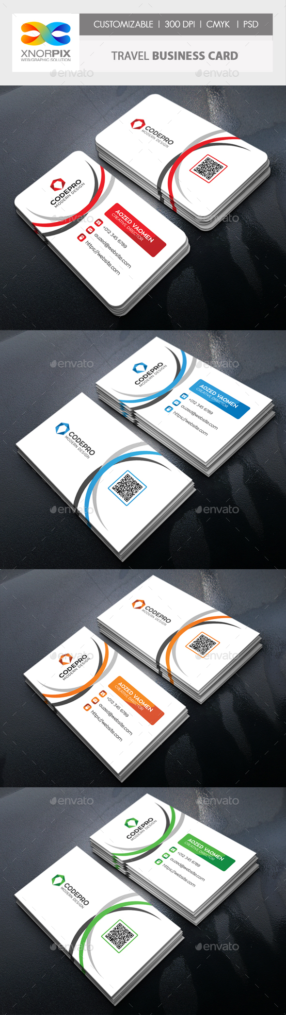 GraphicRiver Travel Business Card 20446217