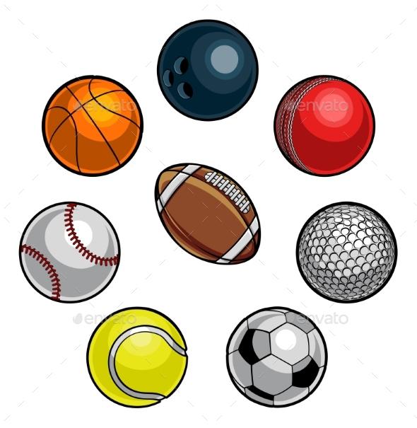 Sports Balls Set - Sports/Activity Conceptual