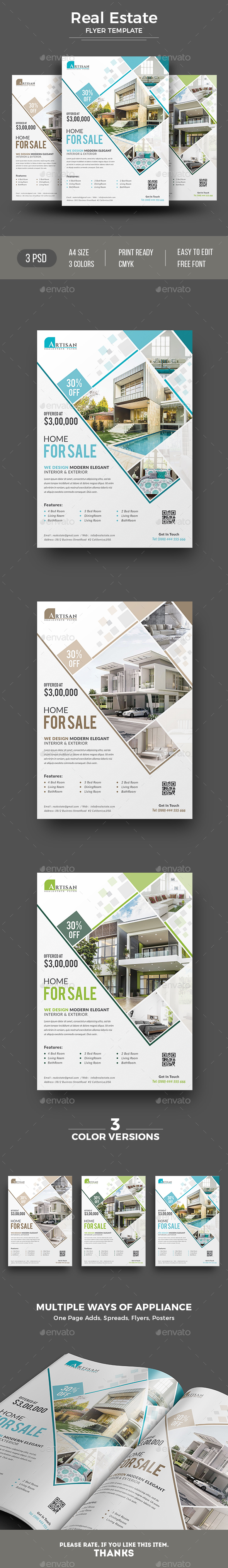 GraphicRiver Real Estate Flyer 20446394