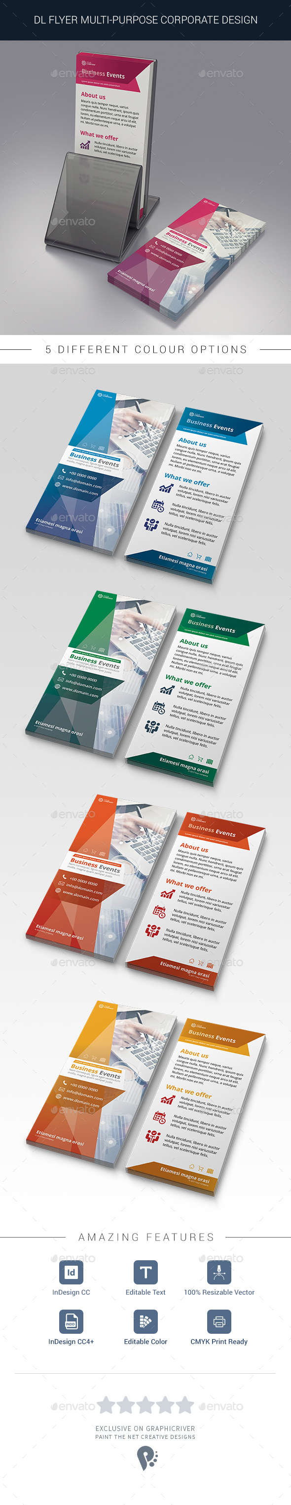 Multipurpose DL Flyer - Flyers Print Templates