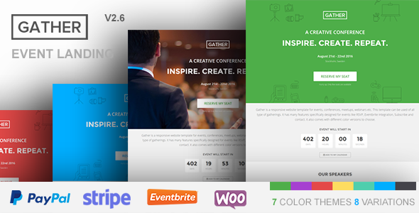 Gather - Event & Conference WP Landing Page Theme - Marketing Corporate