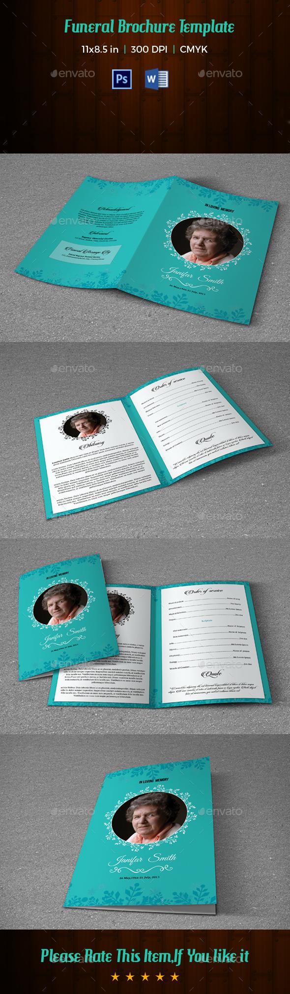 Funeral Template V189 - Informational Brochures