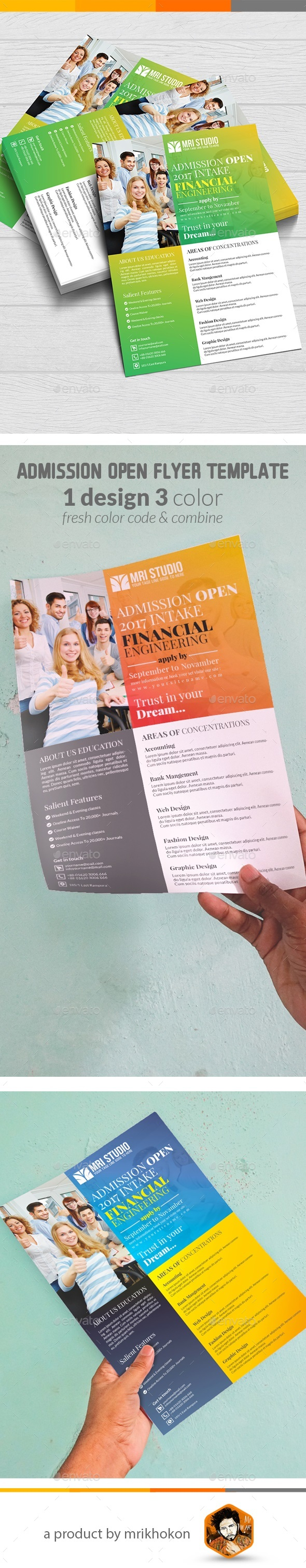 Admission Open Flyer Template - Flyers Print Templates