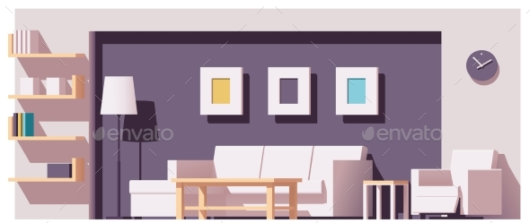 Vector Living Room - Buildings Objects