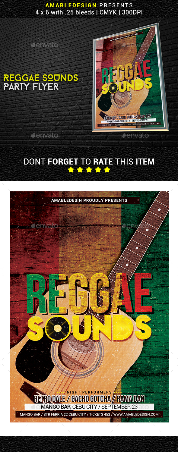 Reggae Sounds Flyer - Events Flyers