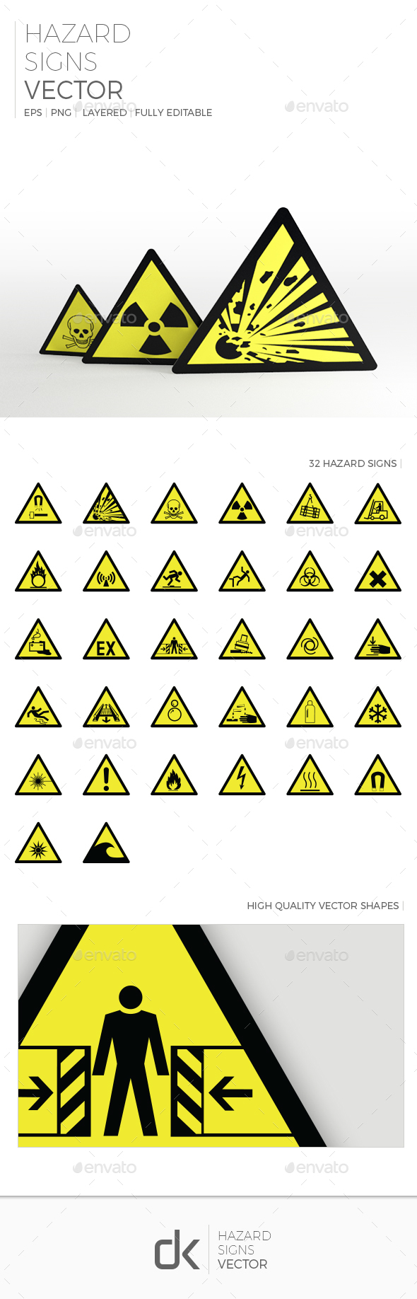 Hazard Signs - Man-made Objects Objects