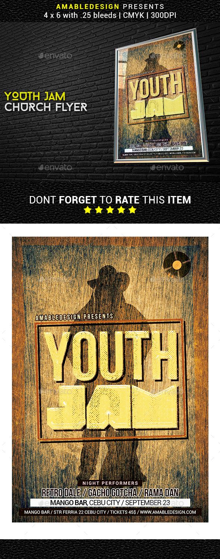 Youth Jam Church Flyer - Church Flyers
