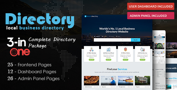 Directory Pro - Local Listing & Directory HTML Template