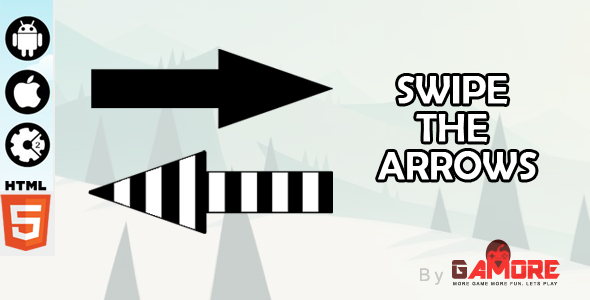 Swipe The Arrows - HTML5 Game - Construct 2 CAPX