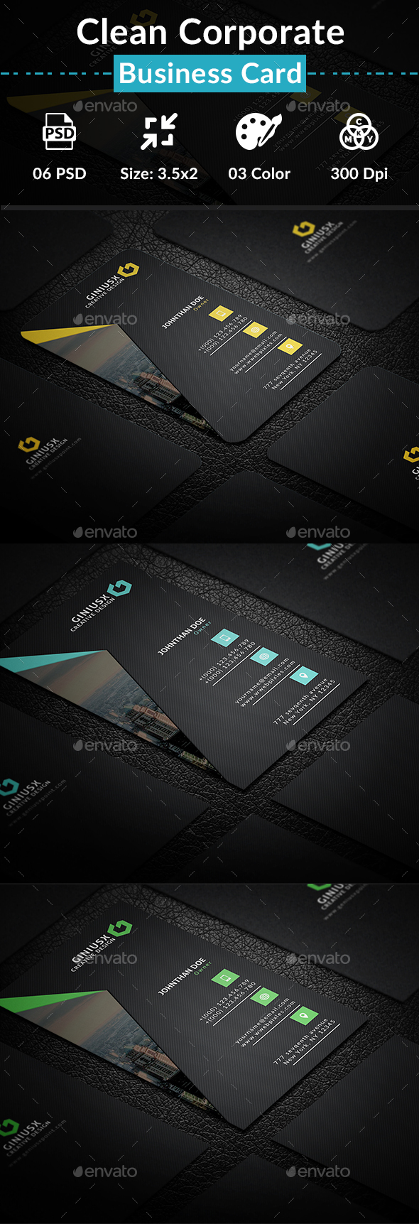 Clean Corporate Business Card - Creative Business Cards