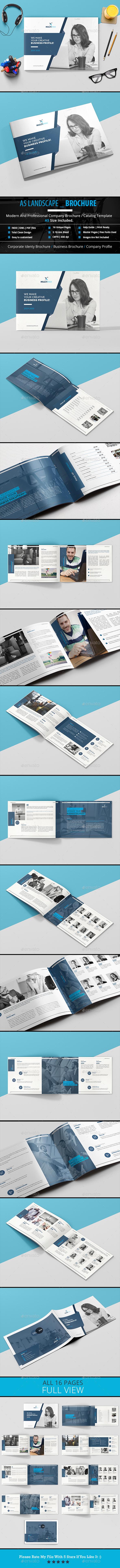 A5 Landscape _ Brochure - Brochures Print Templates