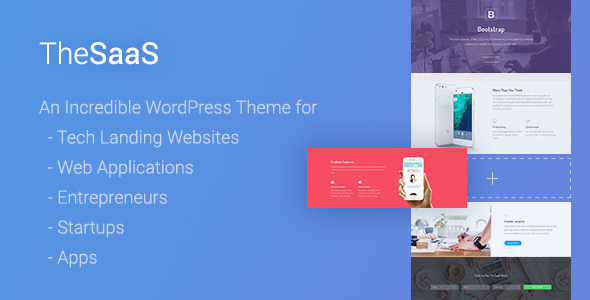 TheSaaS - Responsive SaaS, Software  WebApp WordPress Theme - Software Technology