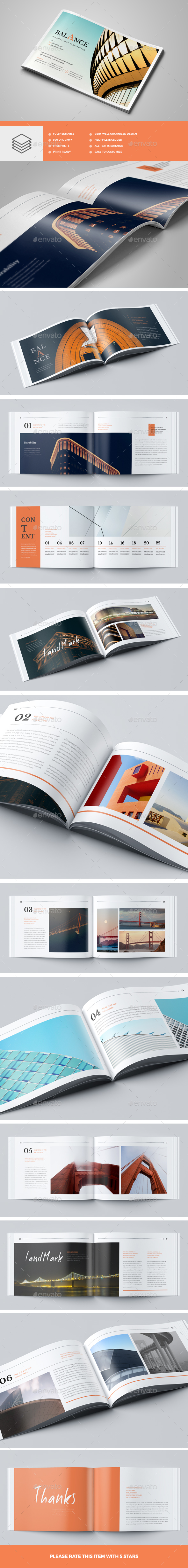 Modern Architecture Brochure 24 Pages A5 - Brochures Print Templates