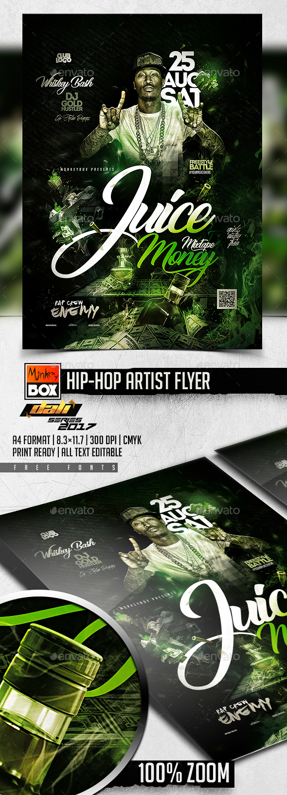 Hip-Hop Flyer Template - Events Flyers