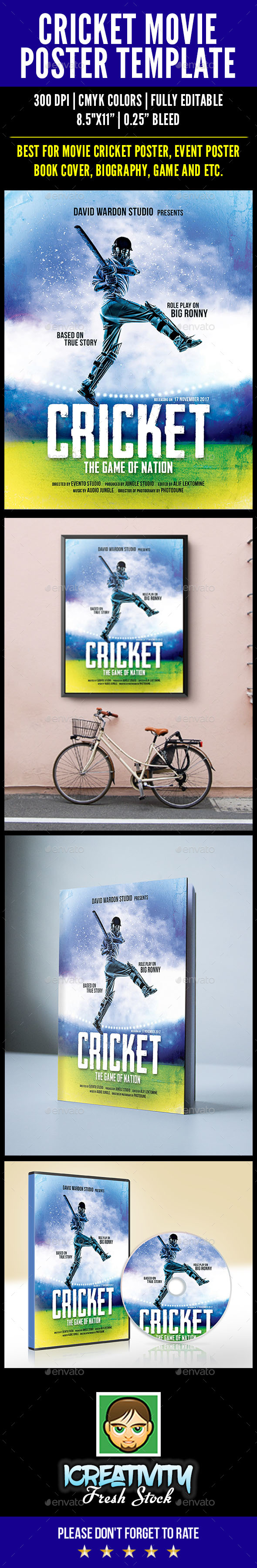 Cricket Movie Poster - Sports Events