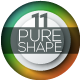 Pure Shape Infographic. Set 11