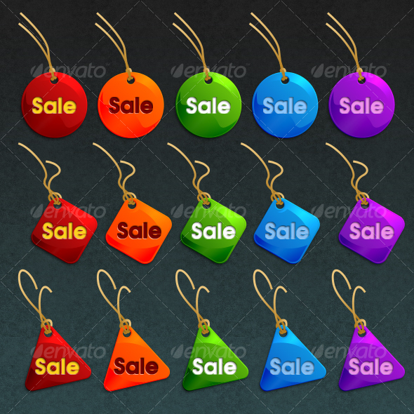 simple sales tags collection - Decorative Graphics