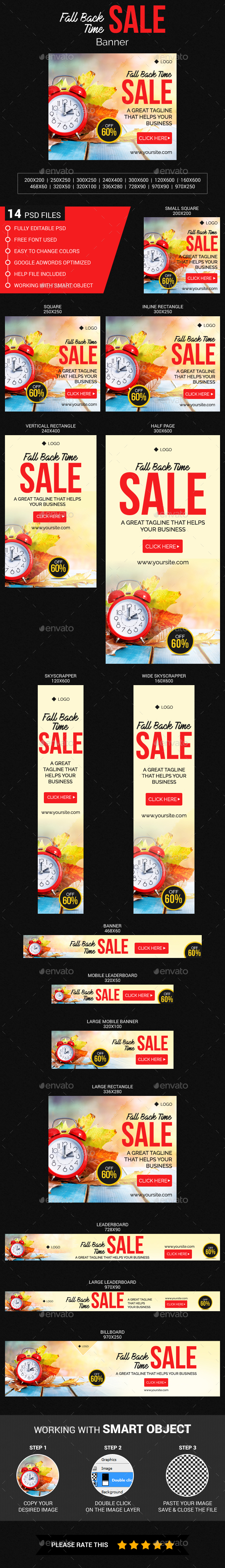 Fall Back Time Sale - Banners & Ads Web Elements