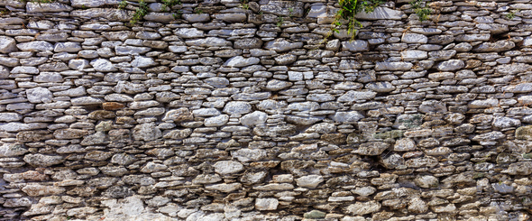 Stone wall background - Greece - Stock Photo - Images