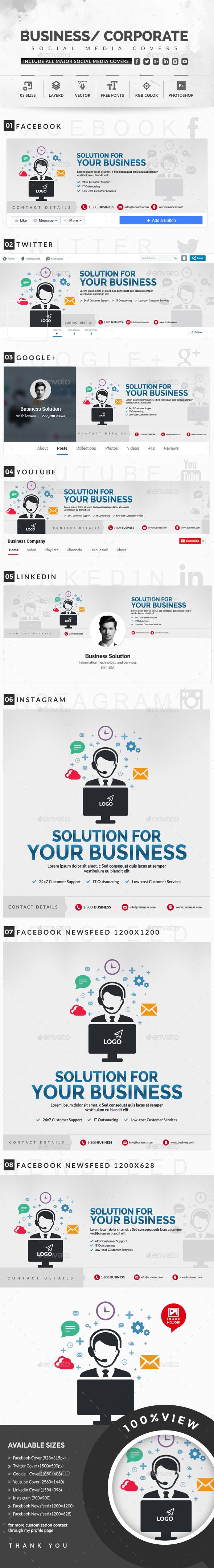 GraphicRiver Social Media Covers 20448194