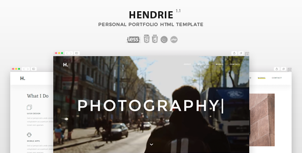 Hendrie - Personal Portfolio HTML Template - Personal Site Templates