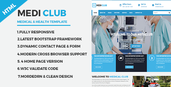 MediClub - Medical & Health Html Responsive Template