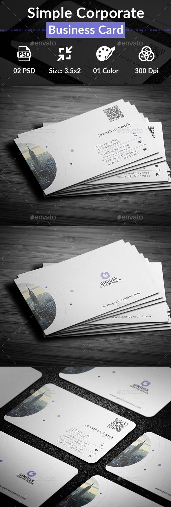 Simple Corporate Business Card - Creative Business Cards