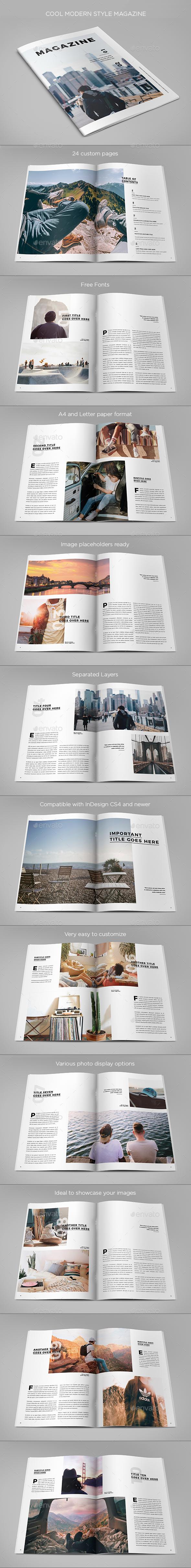 GraphicRiver Cool Modern Style Magazine 20448744