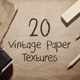 20 Vintage Paper Textures / Backgrounds - GraphicRiver Item for Sale