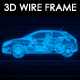 Car Small 3D Wire Frame