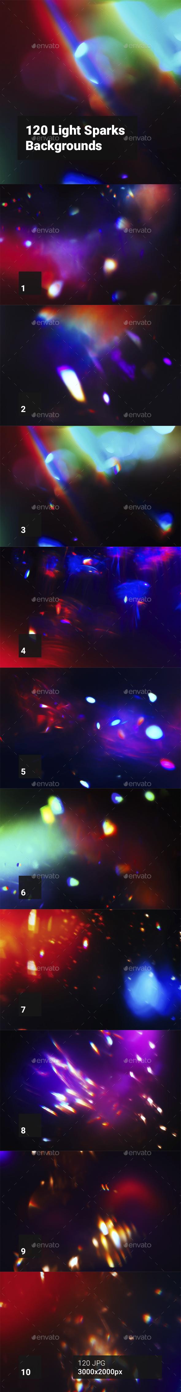 GraphicRiver 120 Light Sparks Backgrounds 20448993