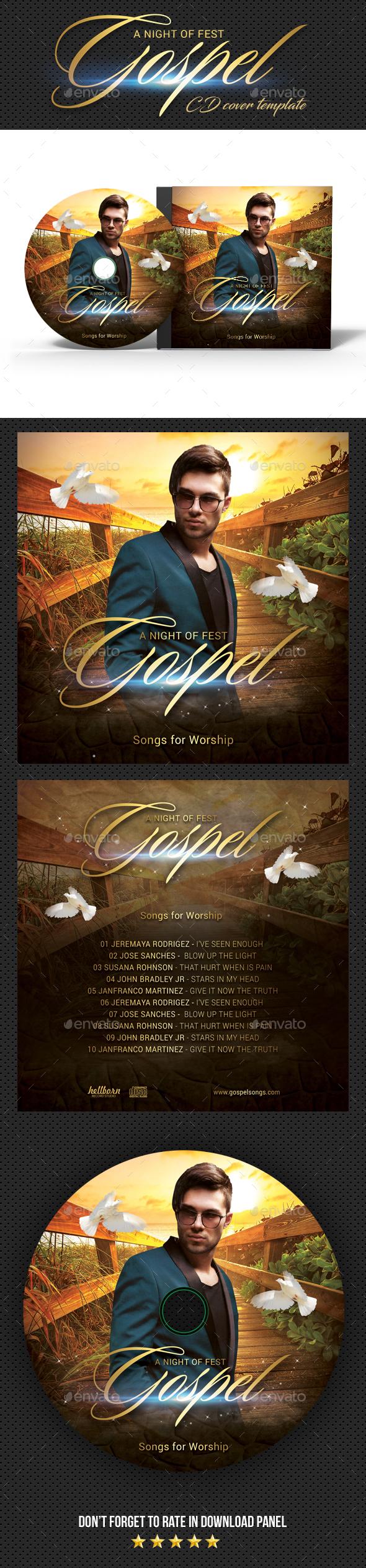 Gospel Fest CD Cover - CD & DVD Artwork Print Templates